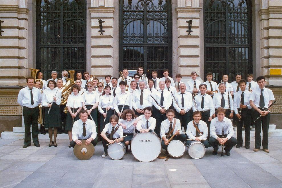 Pihalni orkester Litostroj leta 1992